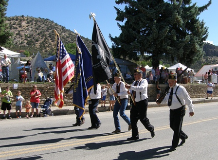 Crawford Pioneer Days Parade Color Guard.