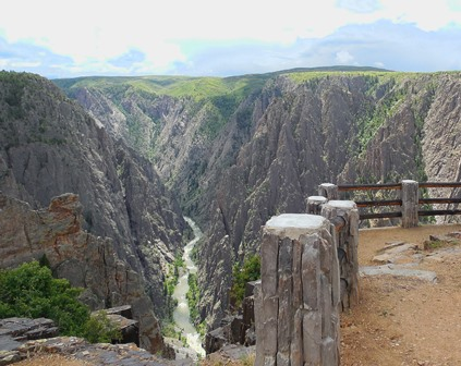 View from North Rim of Black Canyon of the Gunnison National Park