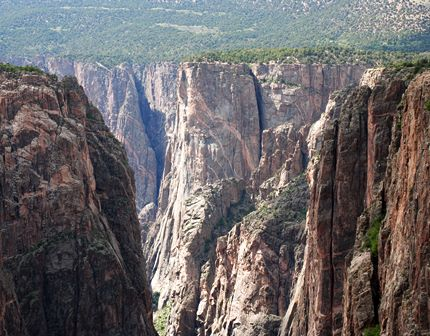 View of Black Canyon of the Gunnison from North Rim near Crawford Colorado